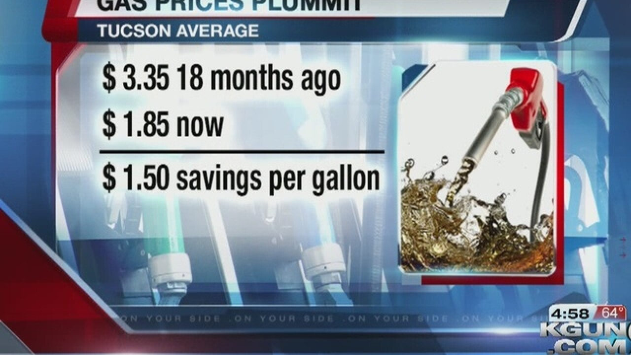 Gas Prices Tucson >> Gas Prices At Their Lowest Point Since 2009