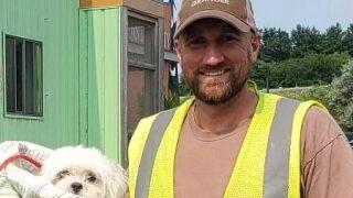 Dog found in Granger Garbage truck this morning