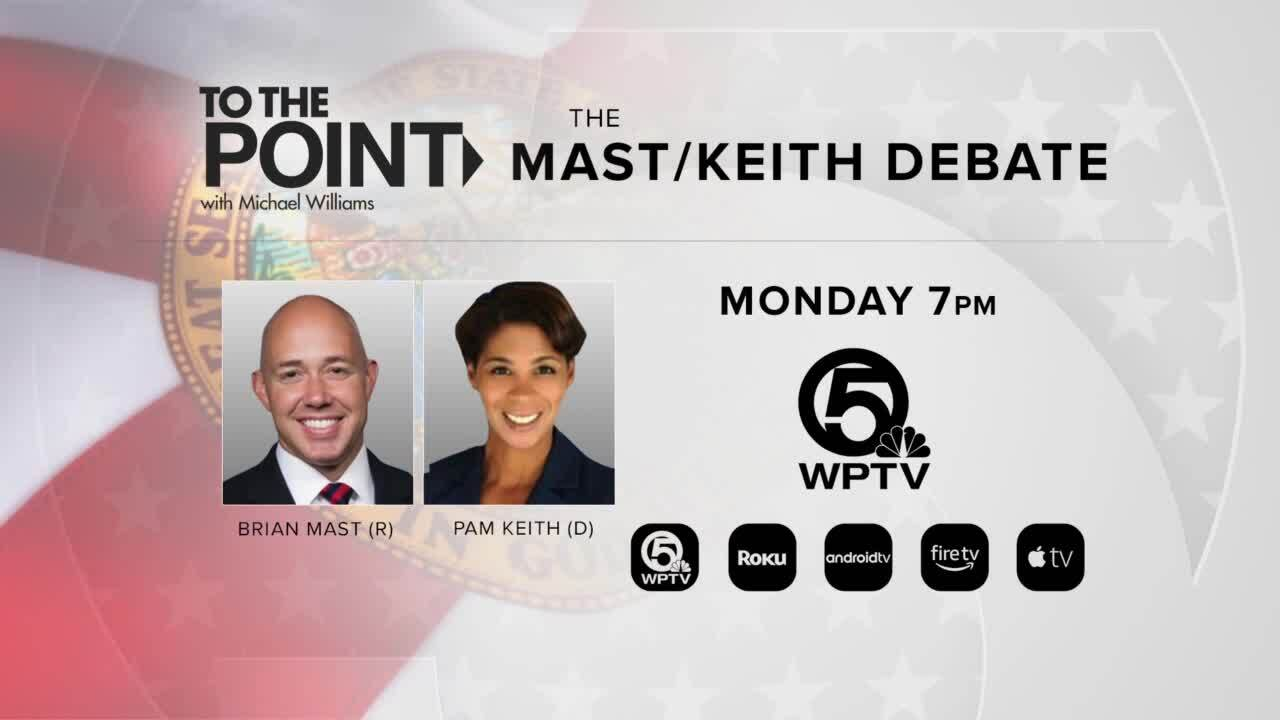 'To the Point: The Mast/Keith Debate Monday 7 p.m.'