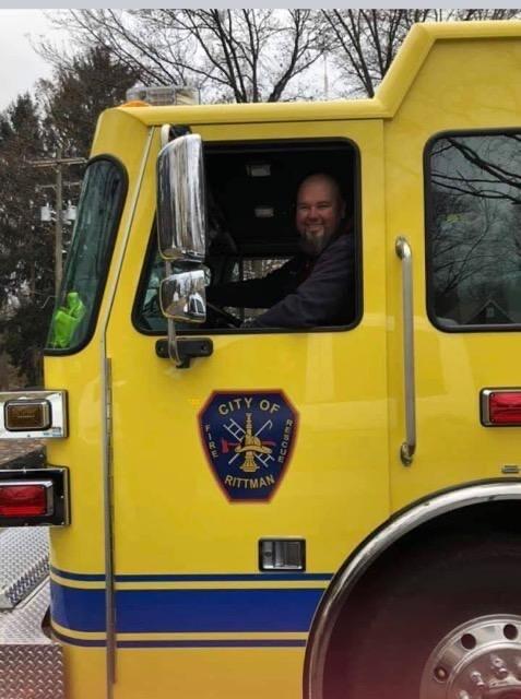 "Rittman volunteer firefighter Mike ""Tiny"" Riding"