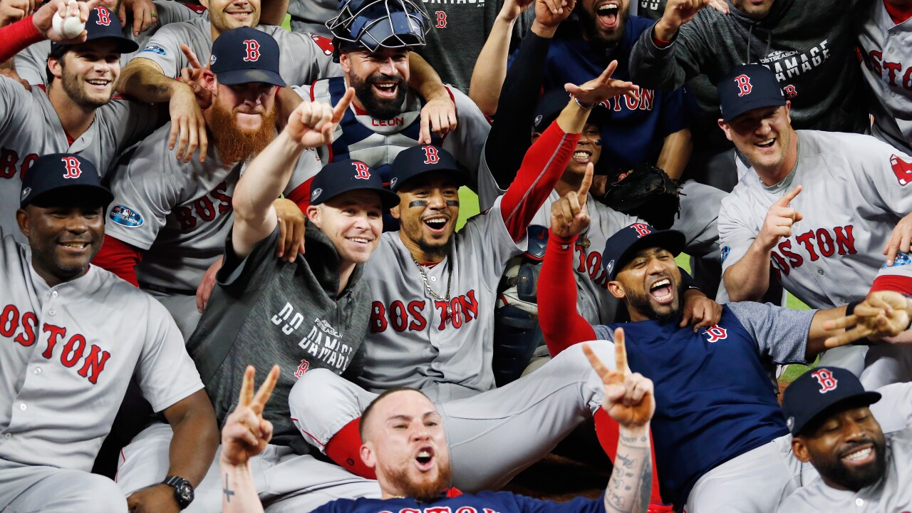 Boston bounces defending champs, Red Sox advance to World Series