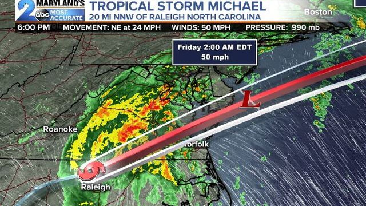 TROPICAL STORM MICHAEL: Takes Aim At Maryland