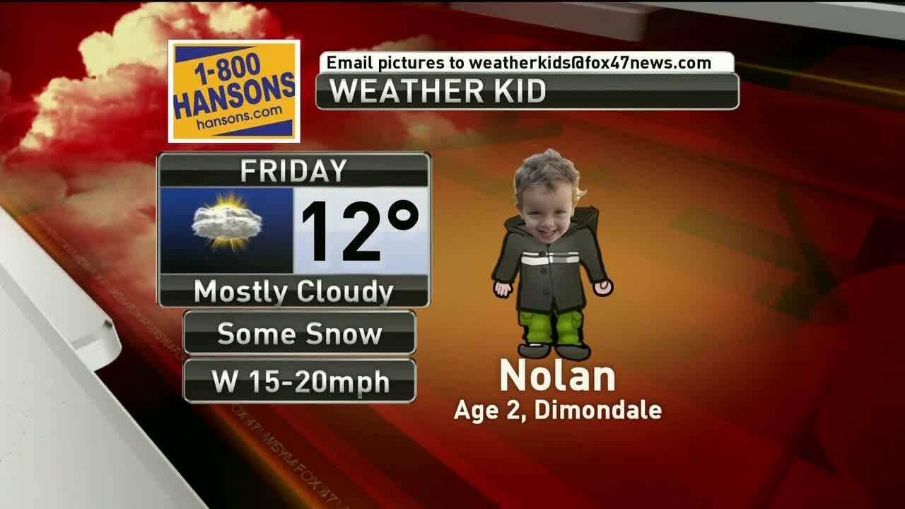 Weather Kid - Nolan - 1-25-19