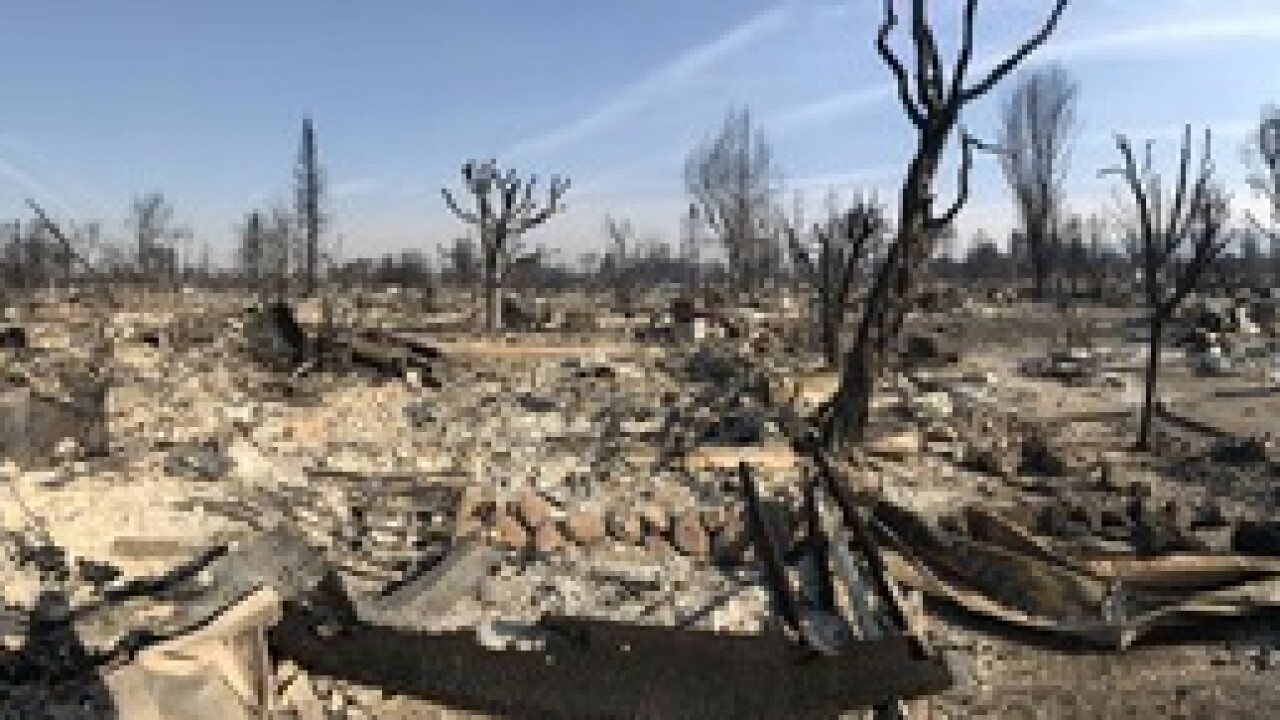 California neighborhood devastated by fire
