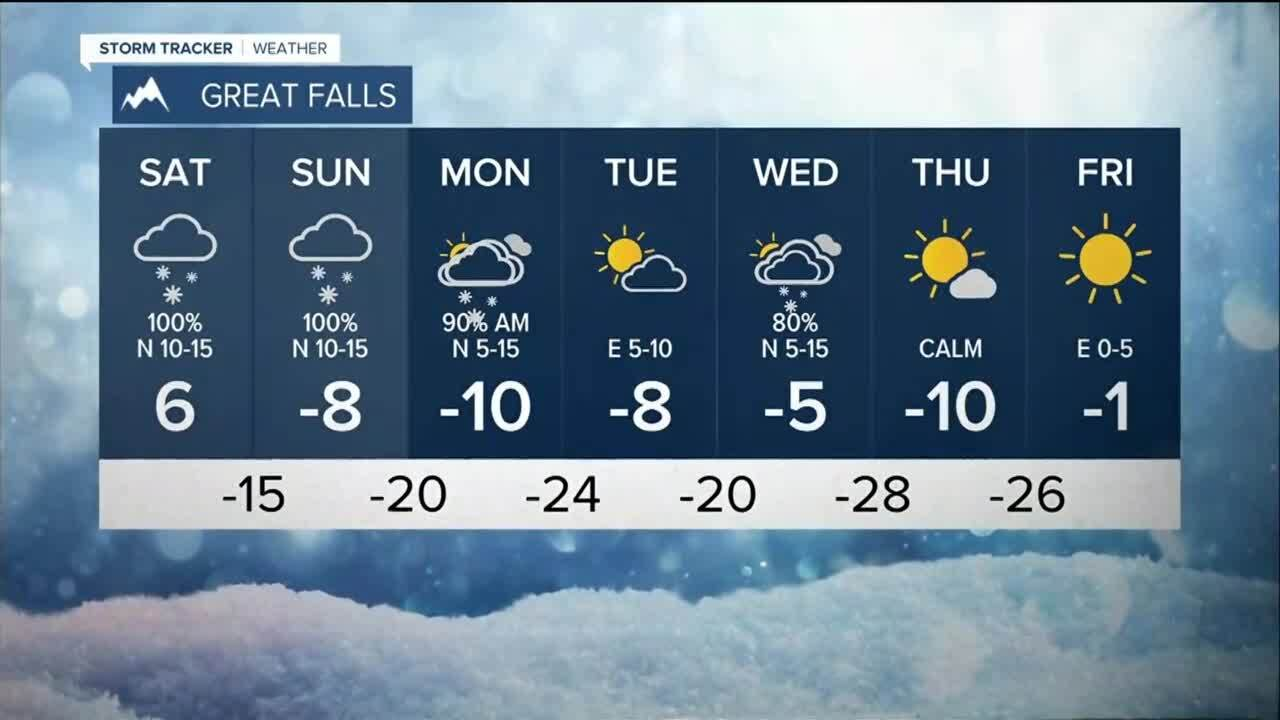 Bitterly cold and snowy for several days