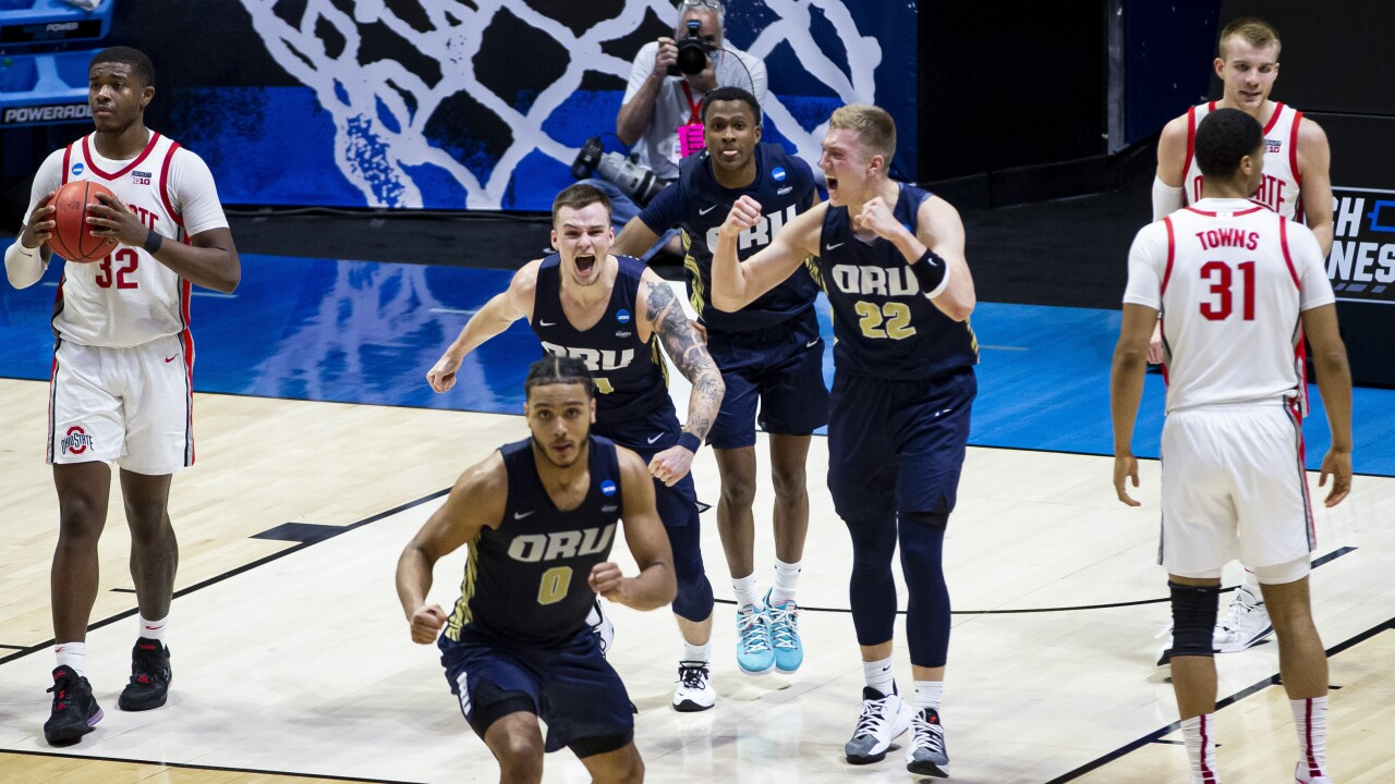Oral Roberts University Defeats No. 2 Ohio State University 75-72 in First NCAA Tournament Upset