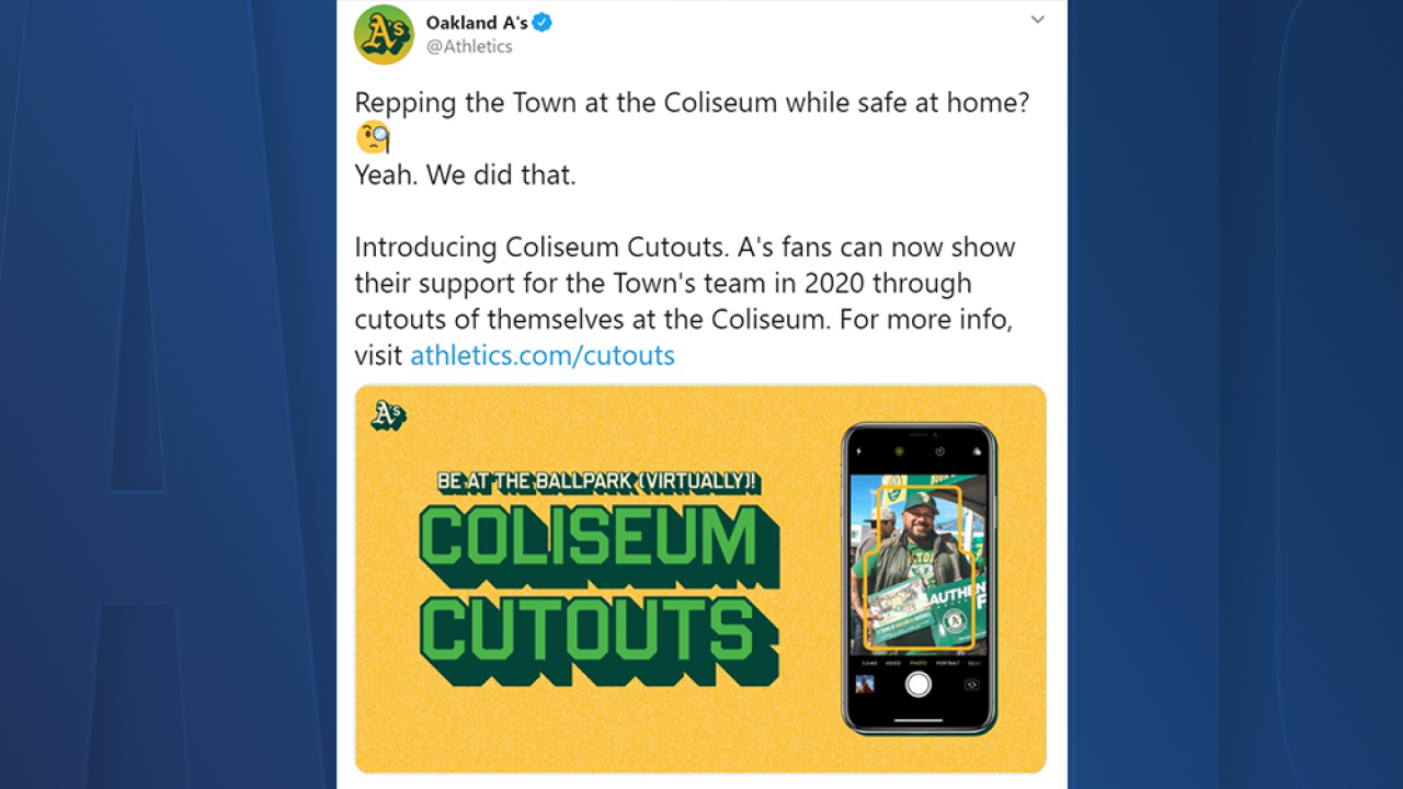 Oakland A's fans can buy cardboard cutout of themselves to put in stadium at games