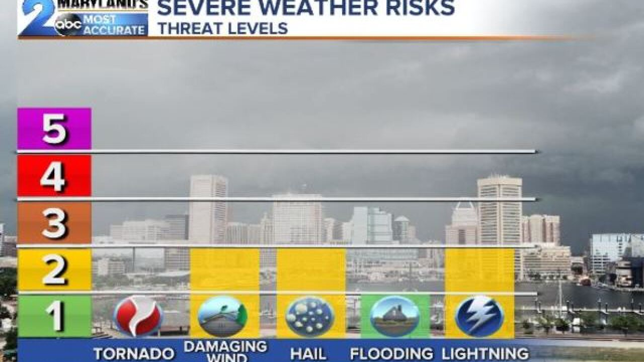 SEVERE THREAT: Wednesday Evening Storms