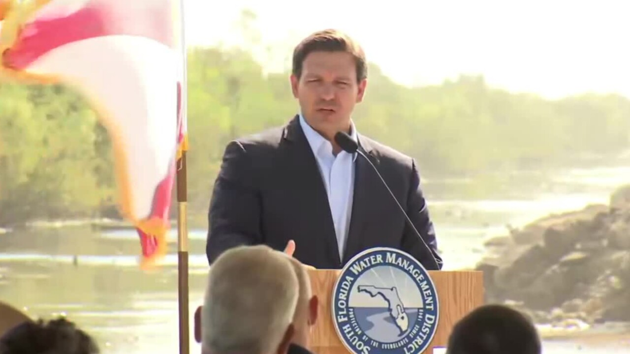 Florida Gov. Ron DeSantis holds a news conference in Miami-Dade County on March 30, 2021.jpg