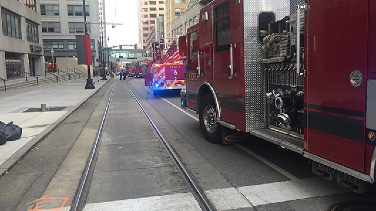 Fire damages downtown Kansas City post office