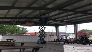 Iota Eagle Scout helps community keep cool