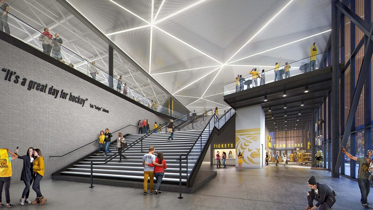 Rendering of inside of Robson Arena
