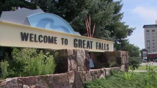 Great Falls welcome sign