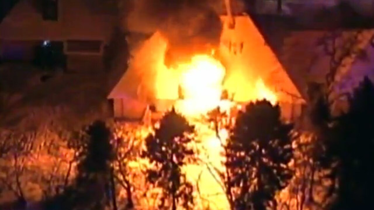 Firefighters battling house fire in Rocky River