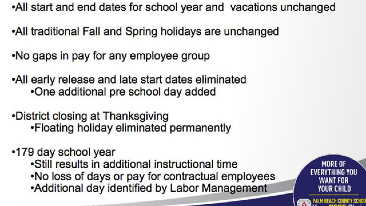 Palm Beach County School District Considering Calendar Changes For
