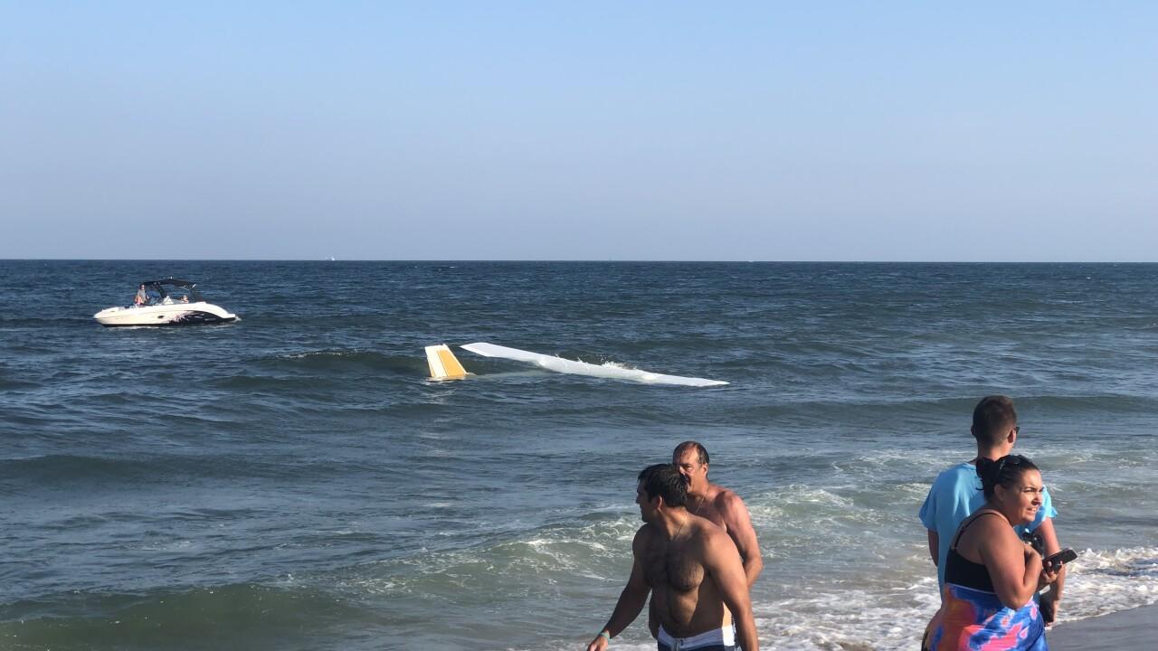 VIDEO: Plane makes emergency landing on the beach in Ocean City