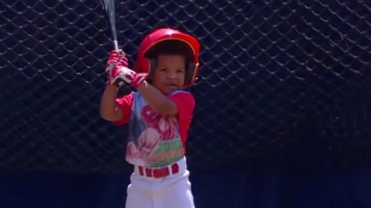 BP melts hearts with pre-game practice with son