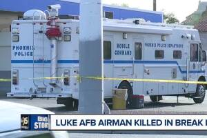 Airman fatally shot breaking into Phoenix apartment