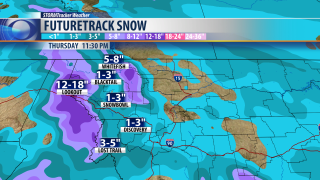 Snow totals add up through Sunday