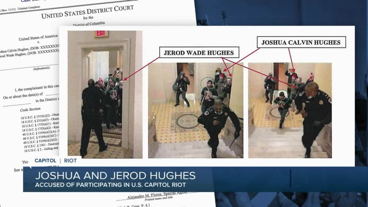 Joshua and Jerod Hughes charged in connection with Capitol riot