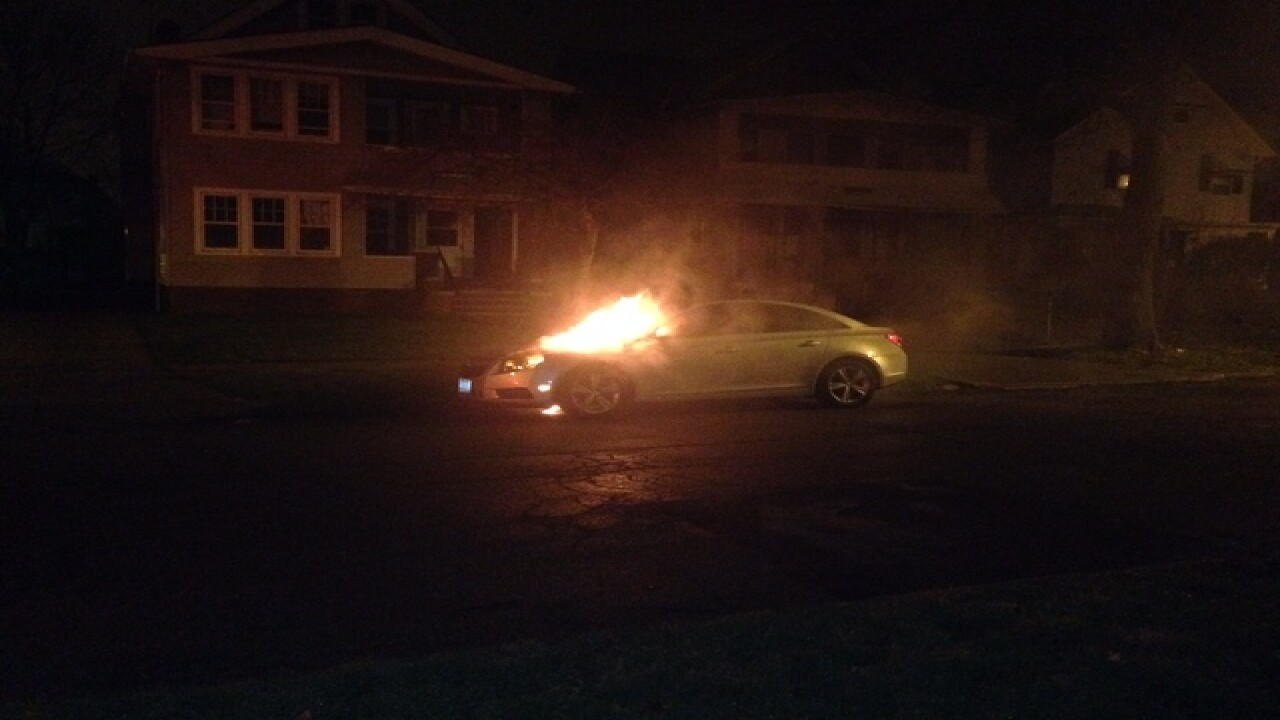 Multiple cars set on fire in CLE, PD investigate