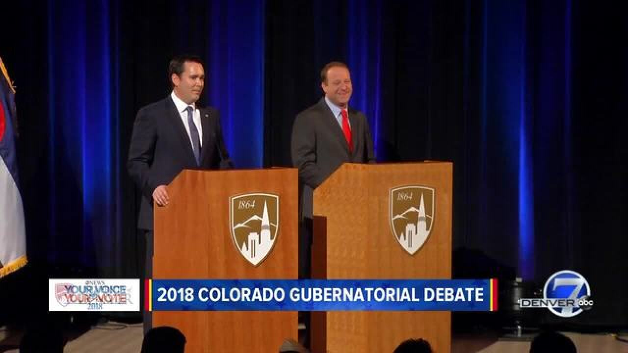 Live blog: Polis, Stapleton square off in debate