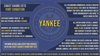 The Coast Guard Captain of the Port sets Port Condition Yankee.
