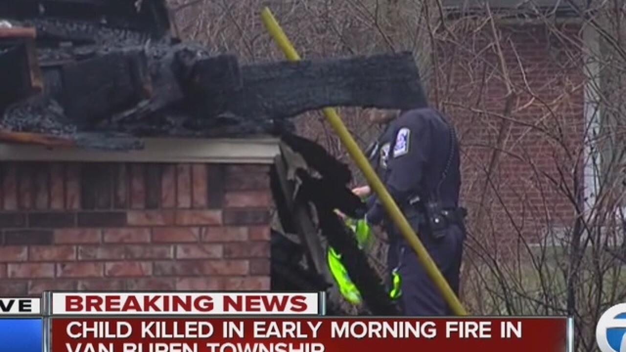 1 child dead, 4 injured in Van Buren Twp. fire