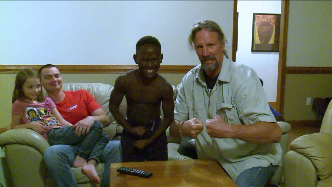 Boy from Uganda adopted by Mechanicsville family submits Under Armourvideo