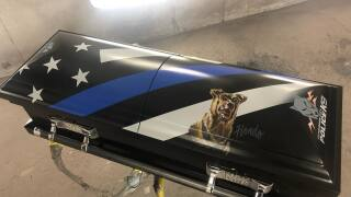 Police dog killed on duty honored with special casket