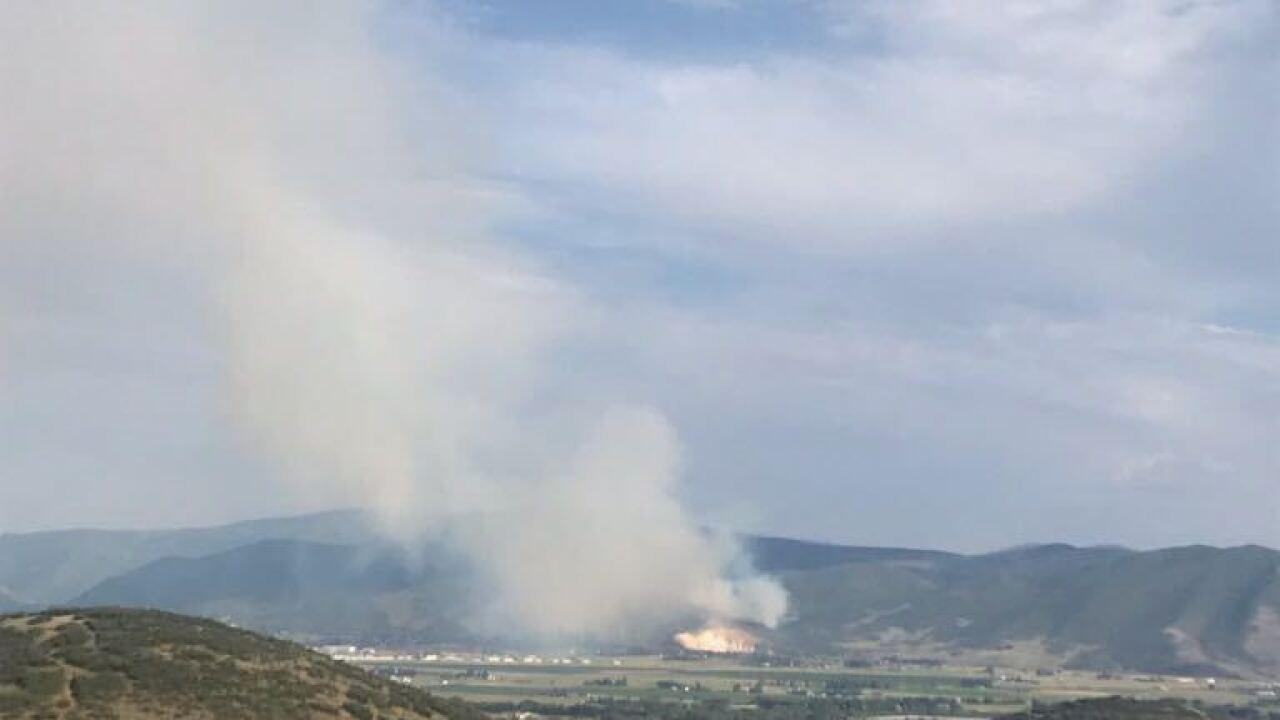 Wildfire near Heber