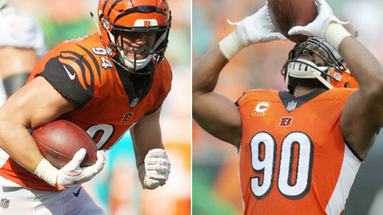Bengals defenders Michael Johnson, Sam Hubbard share special bond, special day