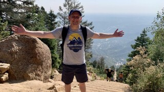 Alan on the Manitou Incline