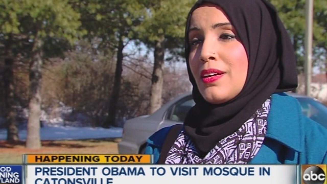Obama making 'historic' visit to area mosque