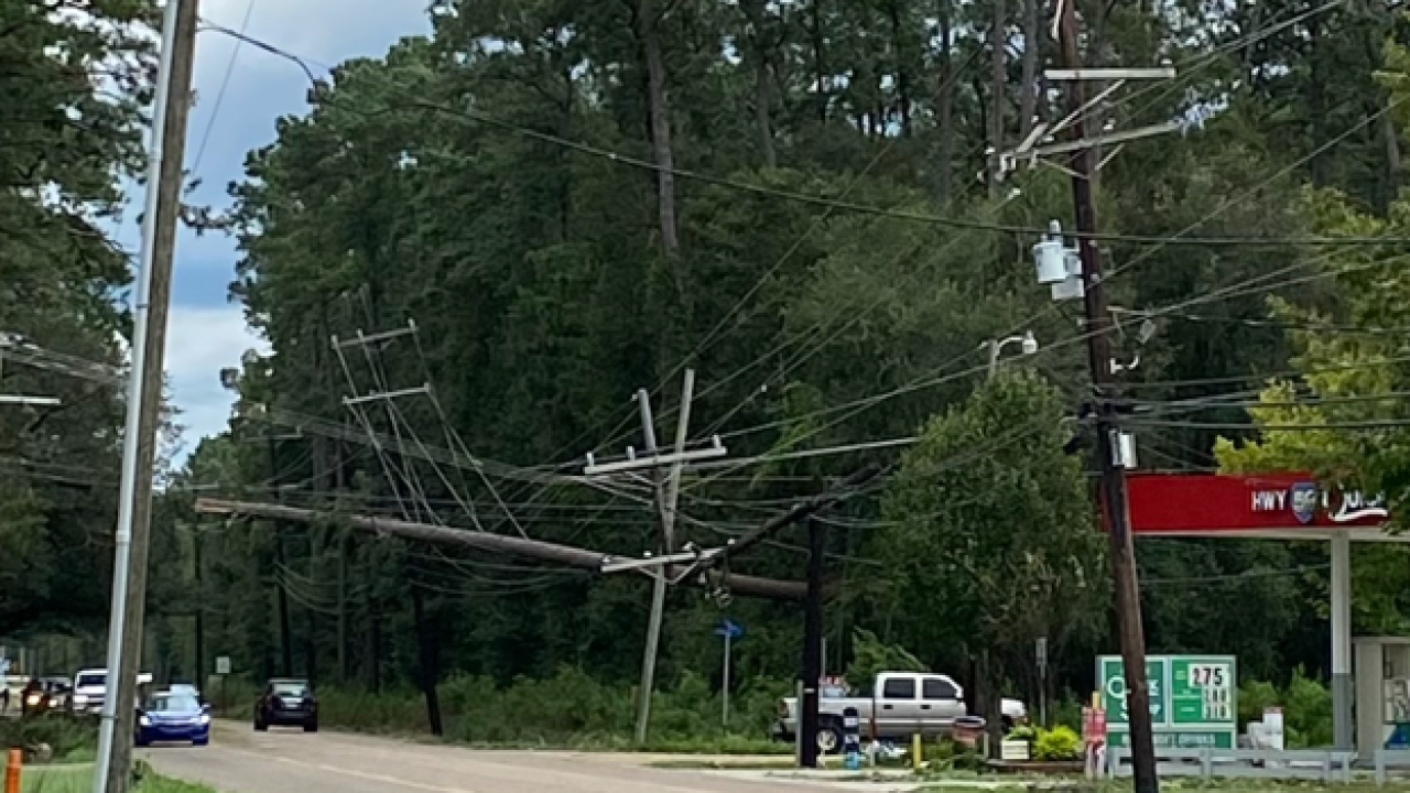 Damage in Mandeville, Courtesy of Cleco