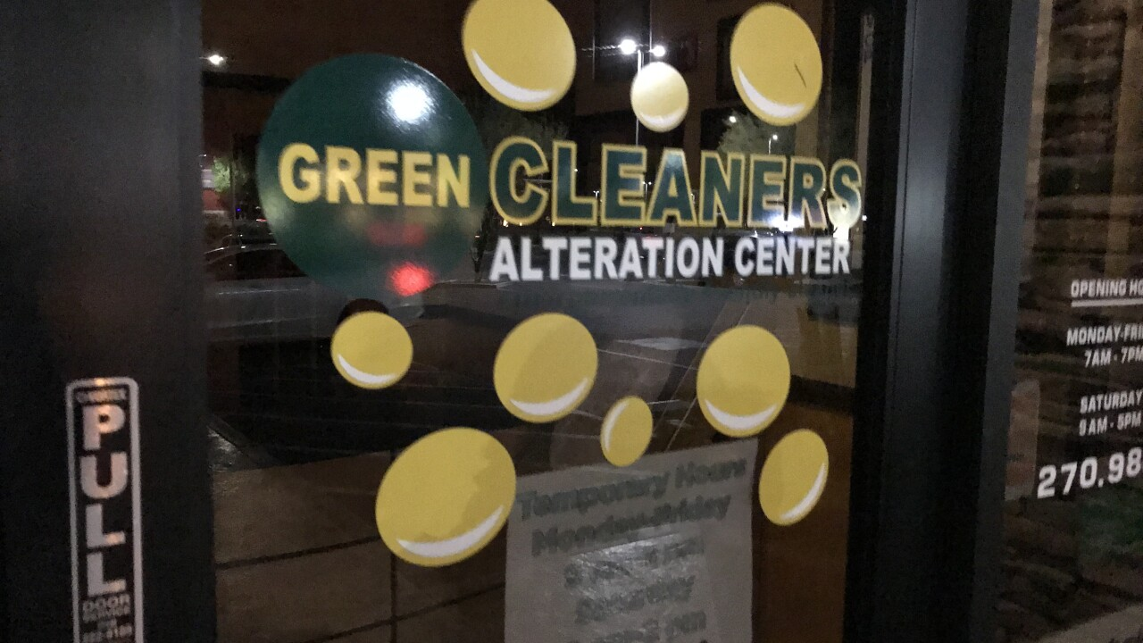 Green Cleaners has reduced their hours and staffing levels to be in accordance with social distancing requirements and reduced business