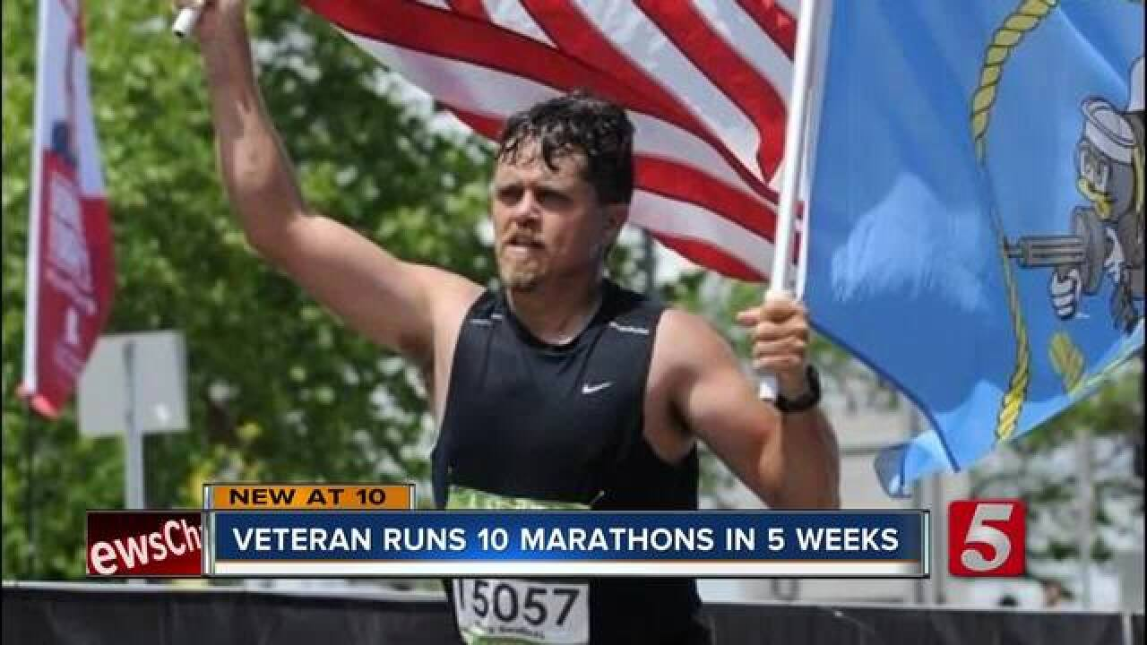 Combat Veteran runs 10 marathons in 5 weeks