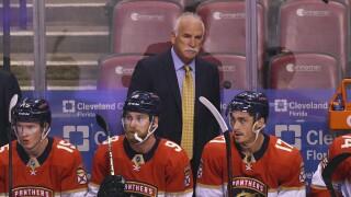 Florida Panthers coach Joel Quenneville, Oct. 21, 2021
