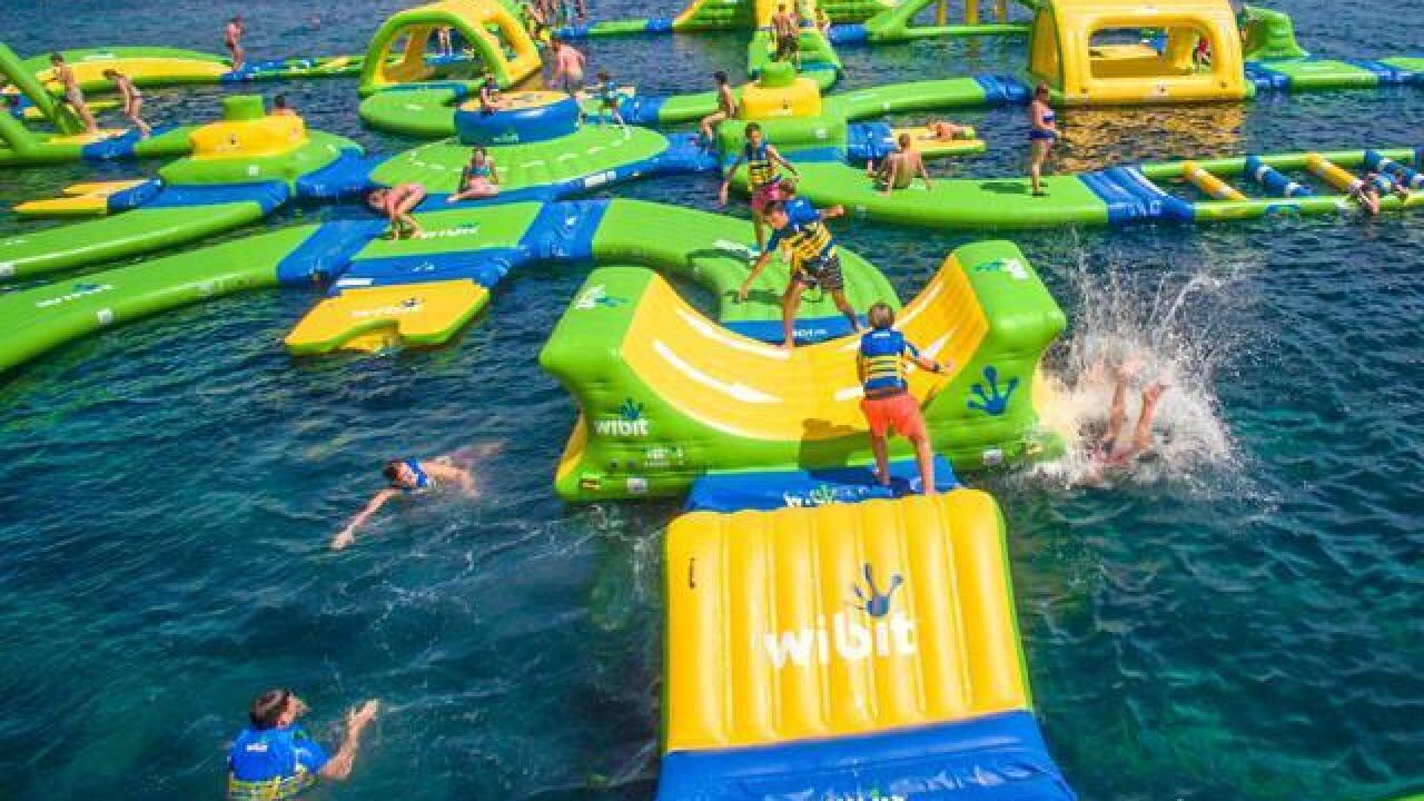 Massive floating waterpark opens on Lake Mich.