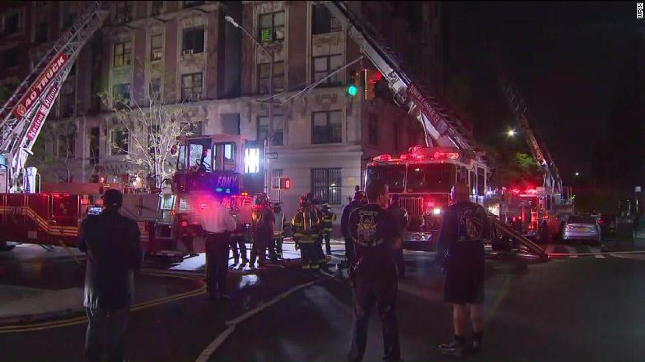 6 people are dead after an apartment fire in Harlem