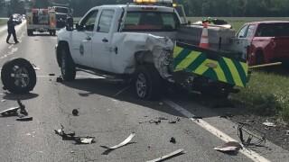 ODOT truck struck