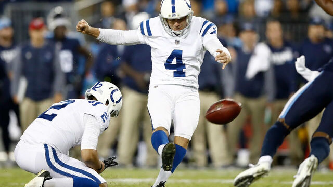 Colts kicker sets record for most points scored in NFL history