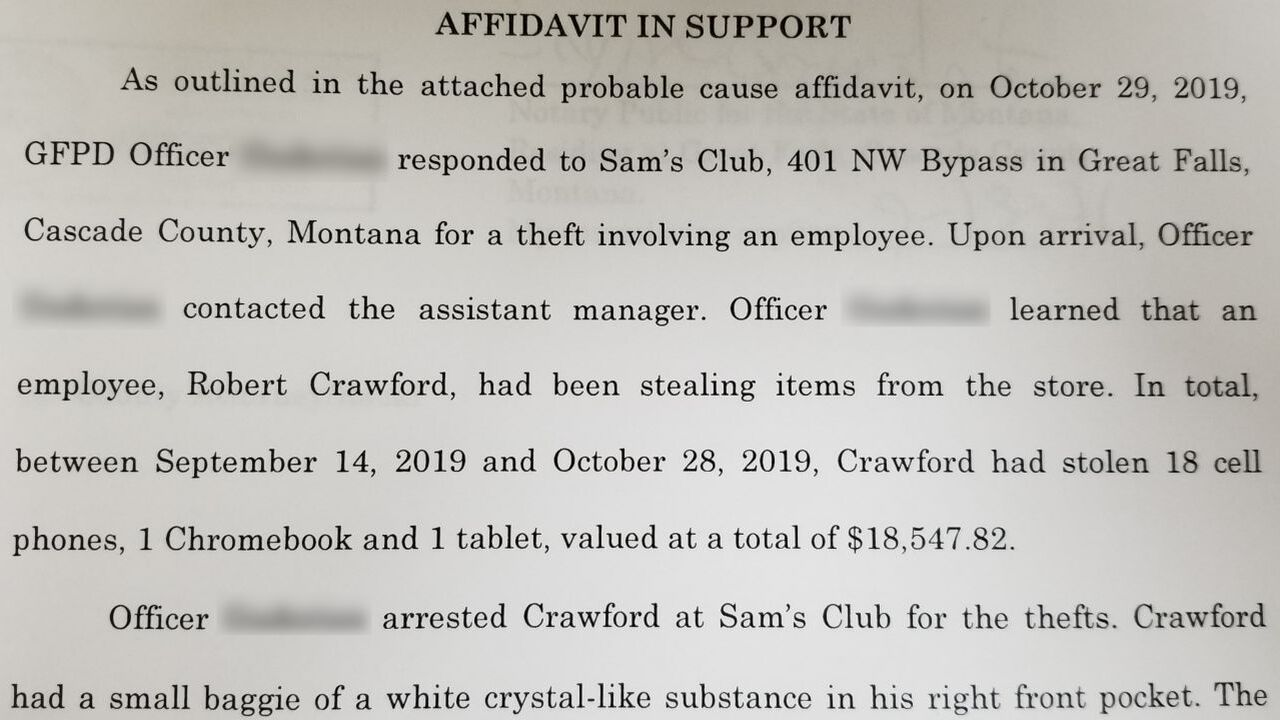 Crawford charged with stealing more than $18,000 worth of electronics