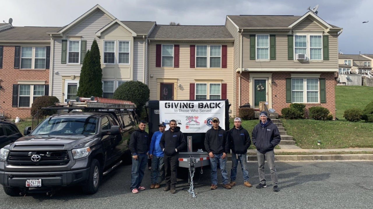 Teams from RoofPRO and Operation Homefront came together for the Owens Corning Roof Deployment Project to install a new roof for U.S. Army veteran Lovie Thompson-Olgesby