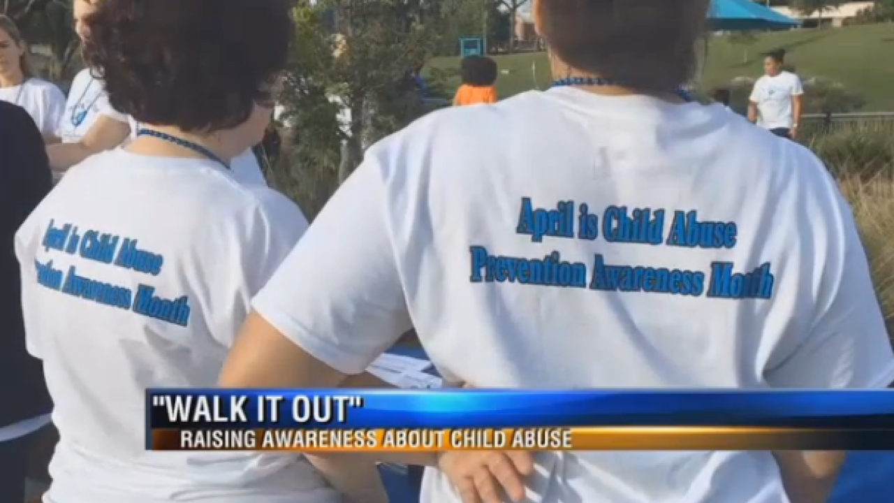 "Thomas University Students ""Walk it Out"" at Cascades Park"