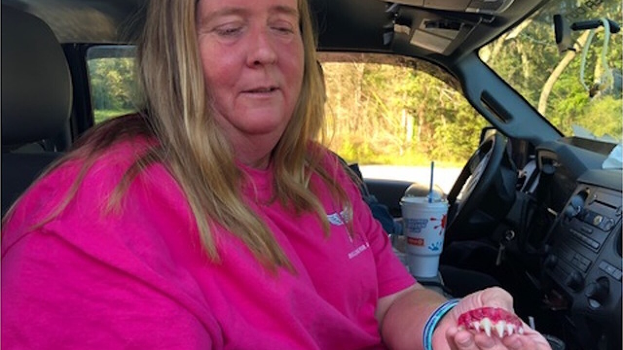 Woman says false teeth from Walmart required emergency dental appointment after they got stuck