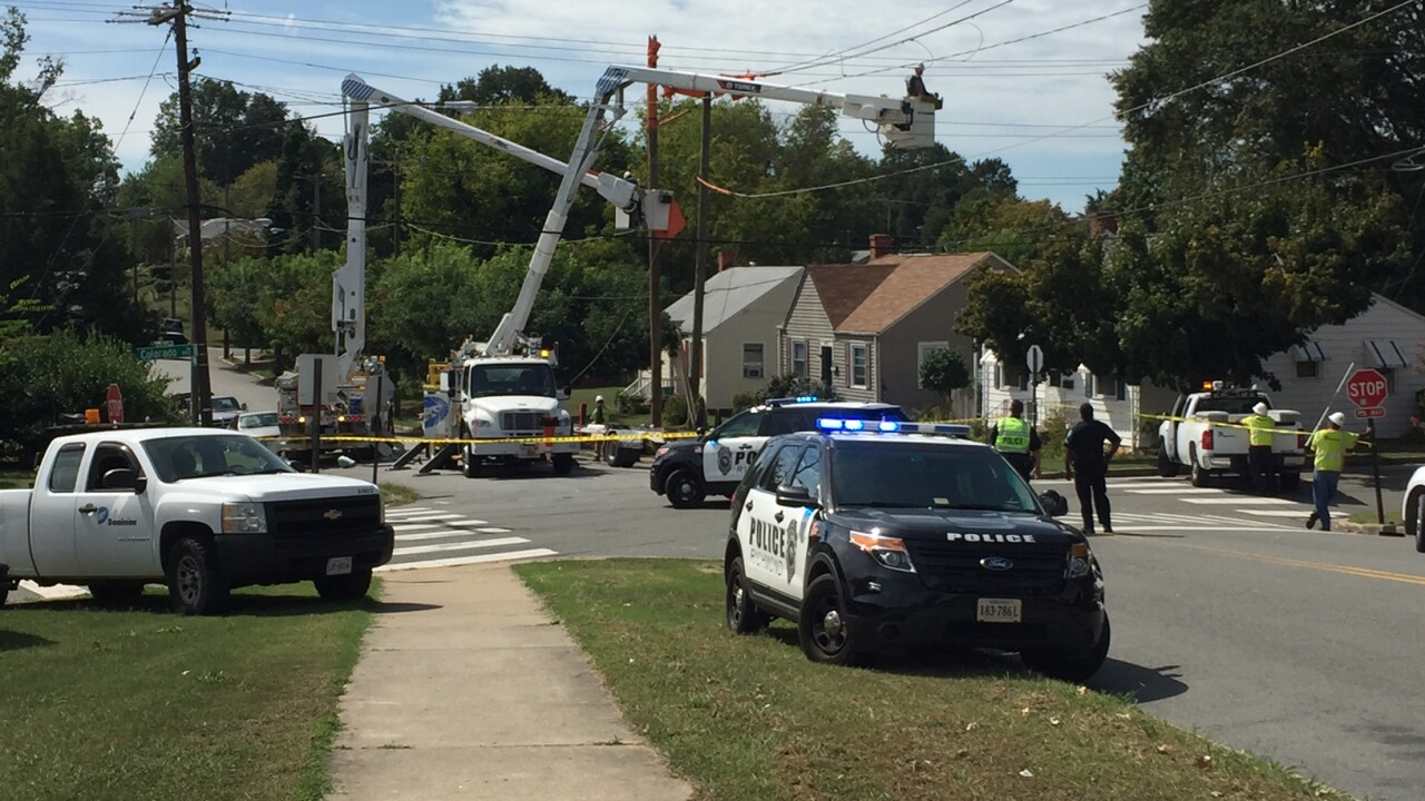 Empty GRTC bus rolls into power pole, knocks out power to hundreds