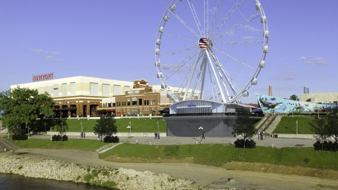 Giant Ferris wheel to start rolling on the river