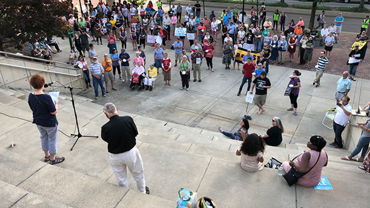 200 in Akron protest immigrant family separation