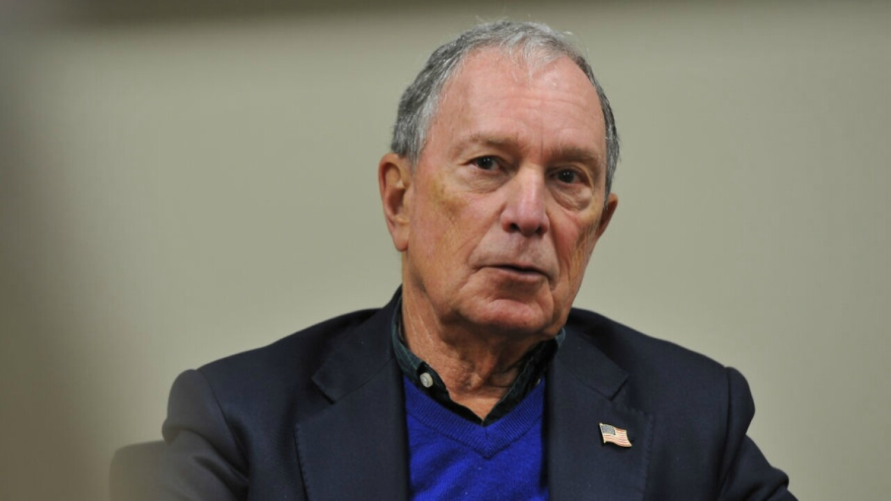 Michael Bloomberg attends events in Iowa promoting film about climate change